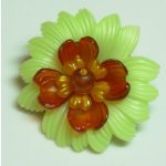 Brooch with Vintage Plastic Components